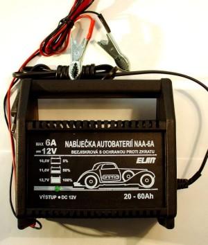 Nabíječka akumulátorů NAA-6A, 12V/6A max.