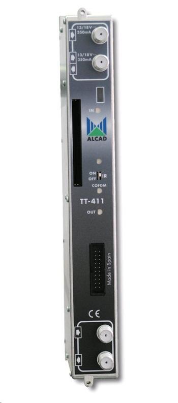 Alcad transmodulátor TT-411 DVB-S, S2/ DVB-T dvojitý transmodulátor, CI