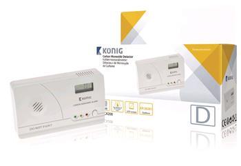 Detektor oxidu uhelnatého EN50291 s LCD displejem