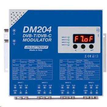 LEM DM204 - čtyřkanálový DVB-T/DVB-C modulátor