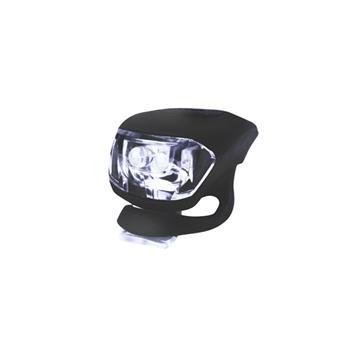 Svítilna na kolo silikonová, přední - černá