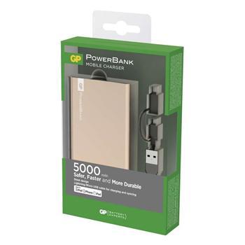 Power bank GP FP05MA 5 000 mAh zlatý, Apple konektor