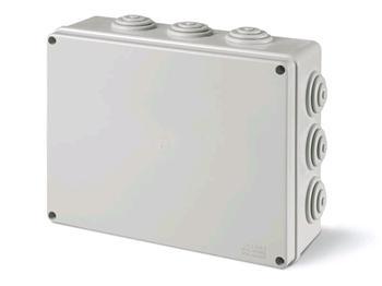 Krabice plastová SCABOX s průchody - 240x190x90mm