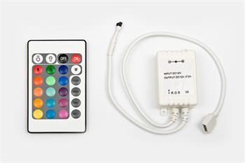 Dálkový ovládač RGB LED pásků - infra. 24 kláves 72W