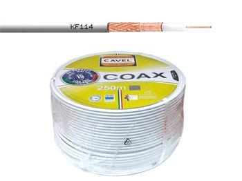 Kabel koaxiální CAVEL KF114 / 250m / 6,6 mm