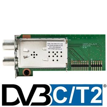 Octagon tuner Twin Duál DVB-C/T2