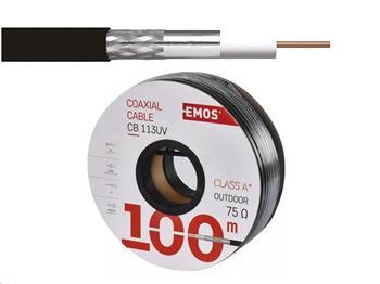 Kabel koaxiálny CB 113 UV čierny / 6,8 mm - vonkajší