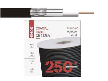 Kabel Koaxiální CB113UV černý / 250m / 6,8 mm