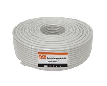 Koaxiální kabel GoSAT RG-6U / 100m / 6,8 mm