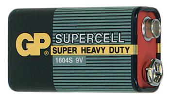 Baterie GP Supercell 6F22 (9V, plochá)