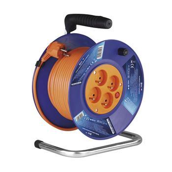 Prodlužovací kabel na bubnu 50m / 3x1,5mm PVC / 4 zásuvky