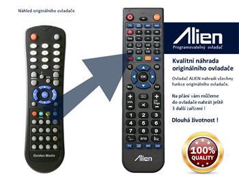 Dálkový ovladač ALIEN Golden Media UNI-BOX 9060, 9080 CRCI HD PVR Class+ - náhrada