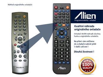 Dálkový ovladač ALIEN Humax RS 501 - náhrada