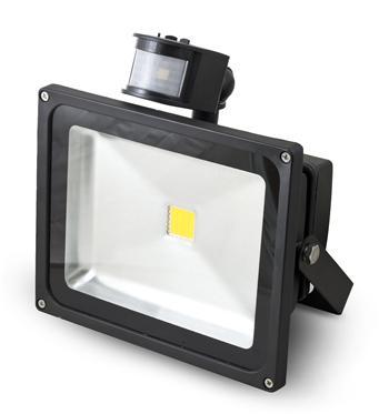 LED Reflektor PIR 30W teplá bílá, 2104 lm - černý G21