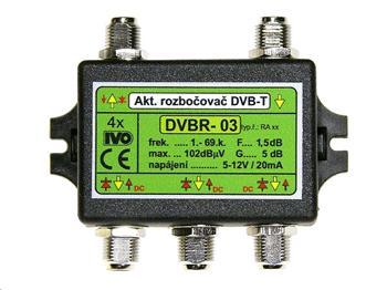 """Ivo DVBR-03X aktivní rozbočovač 4x výstup""""F"""" 5dB zisk"""