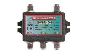 """Ivo DVBR-06X aktivní rozbočovač 4x výstup""""F"""" 20dB zisk"""