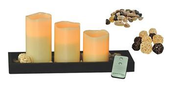 Sada LED voskových svíček, přírodní barva, dálkové ovládání, dekorace