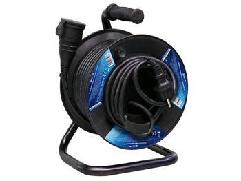 Prodlužovací kabel na bubnu 25m / 3x1,5mm gumový / spojka