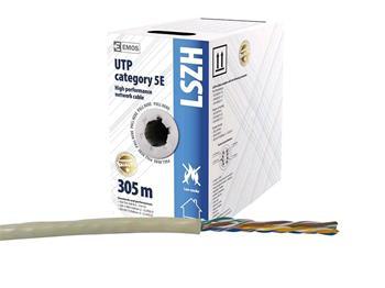 UTP kabel CAT 5E LSZH EMOS 305m