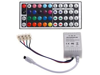 Dálkový ovládač RGB LED pásků - infra. 44 kláves 144W