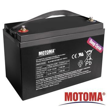 Baterie olověná 12V/100Ah MOTOMA bezúdržbový akumulátor