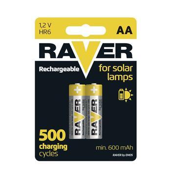 Raver baterie nabíjecí HR6 (AA), blistr
