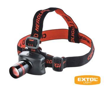 Čelovka LED 3W Cree EXTOL LIGHT 3XAAA 43100