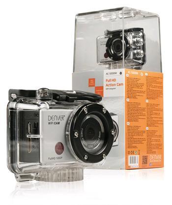 DENVER AC-5000W Akční Full HD kamera 1080p s funkcí Wi-Fi a vodotěsným pouzdrem