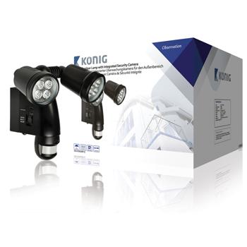 König venkovní lampa s integrovanou kamerou a pohybovým čidlem König