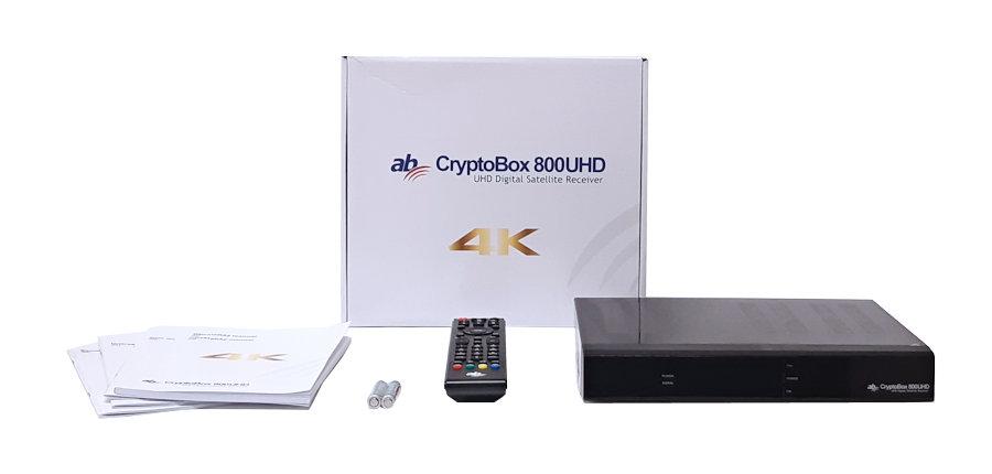 Obsah balení přijímače AB Cryptobox 800UHD