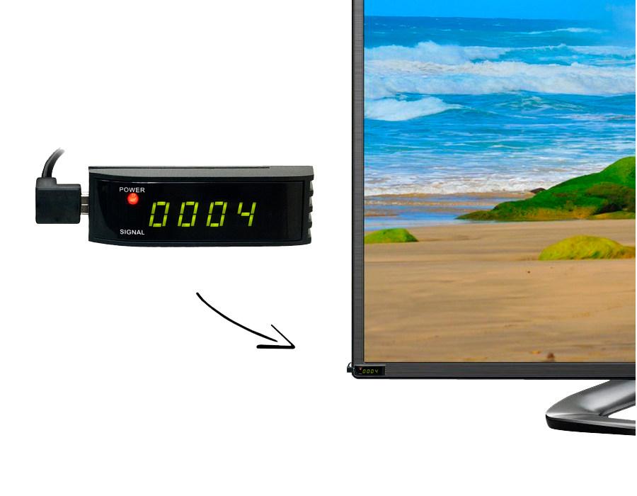 Mini přijímač AB 702T - montáž za televizor